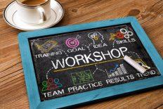 workshop concept on blackboard